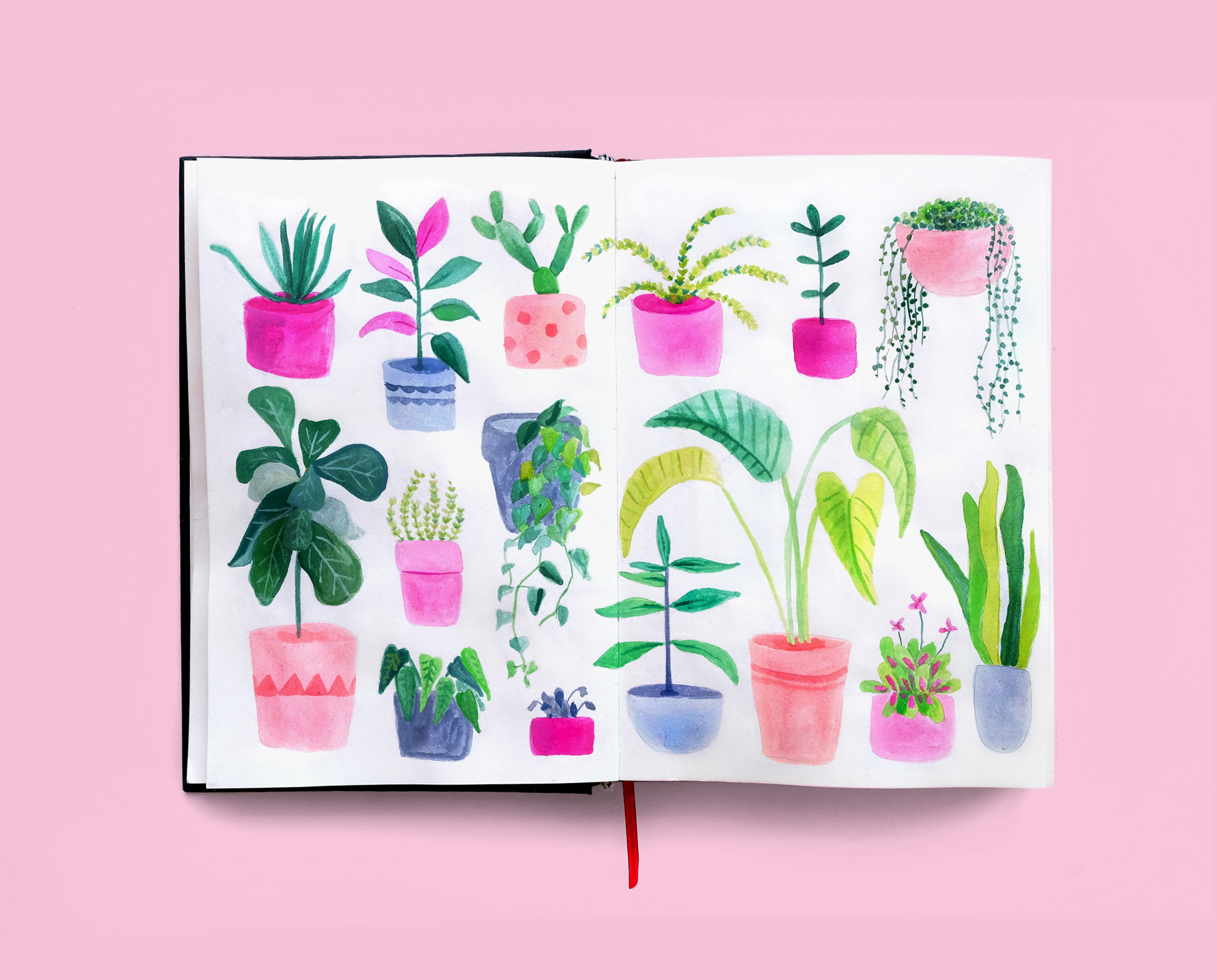 Journal Illustration Plant Pattern
