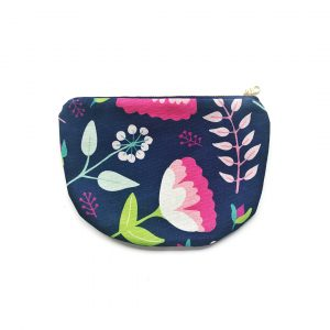 Vintage Floral Scoop Zipper pouch_New