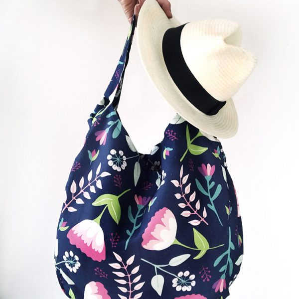 Vintage Floral Tote bag and hat
