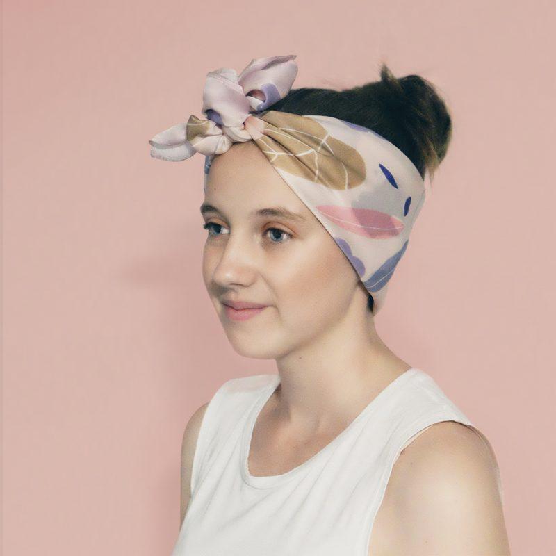 Model - Gold Leaf Headscarf