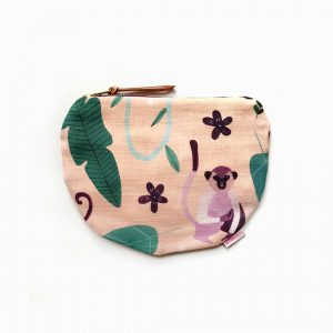 Monkey Scoop Zipper pouch