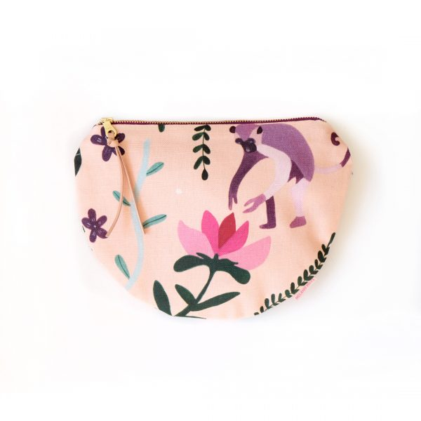 Playful Monkey Scoop Zipper pouch
