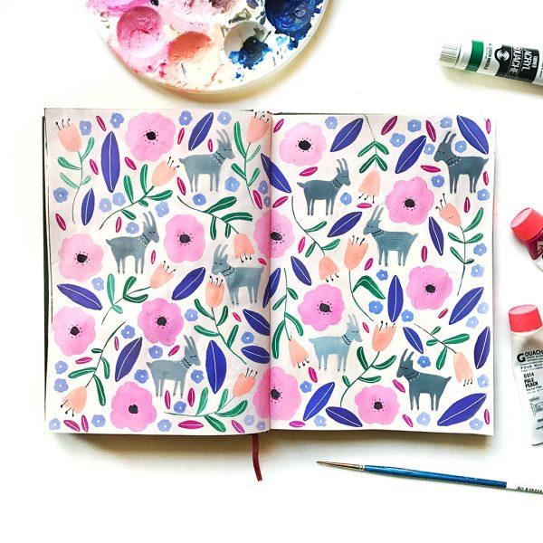 GOAT Journal Pattern