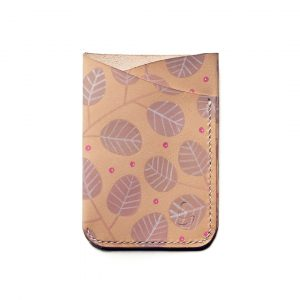 Leather slimline trifold - Autumn Feels - Front
