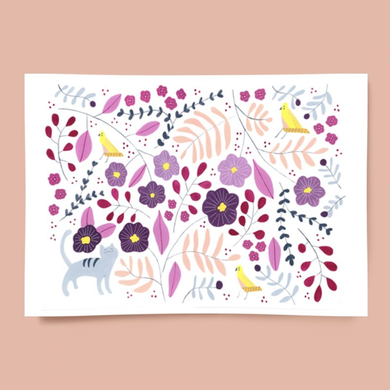 Melanie Miles Kitty's Gaden A3 Print