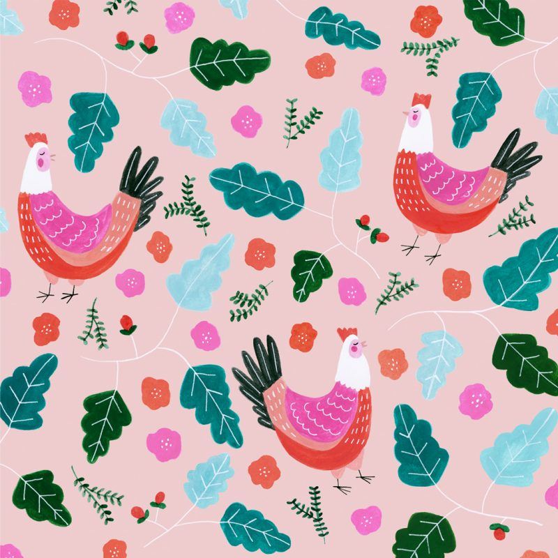Three French Hens Greeting Card artwork